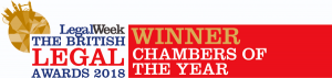 British Legal Awards 2018: Winner, Chambers of the Year