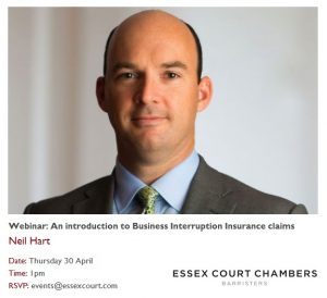 Essex Court Chambers Webinar: An introduction to Business Interruption Insurance claims