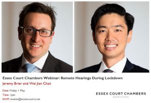 Essex Court Chambers Webinar: Remote hearings, adjournments and the challenges of COVID-19
